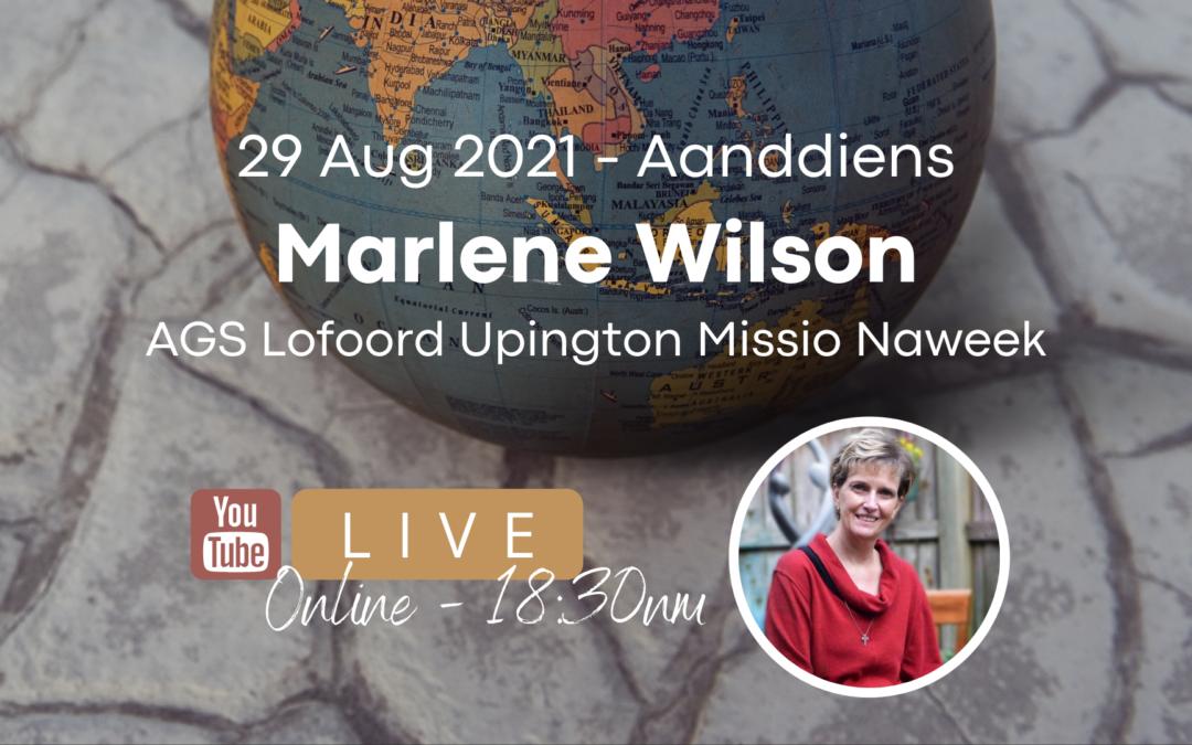 29 Aug Marlene Wilson